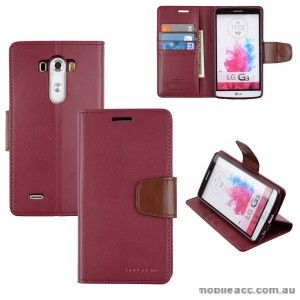 Korean Mercury Sonata Wallet Case for LG G3 - Ruby Wine