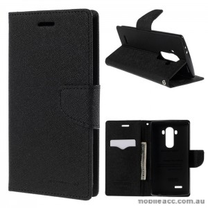 Korean Mercury Fancy Diary Wallet Case Cover LG G4 - Black