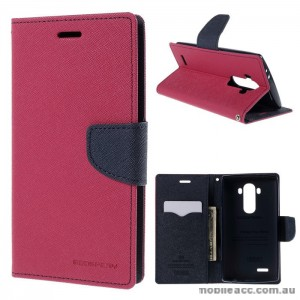 Korean Mercury Fancy Diary Wallet Case Cover LG G4 - Hot Pink