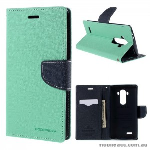 Korean Mercury Fancy Diary Wallet Case Cover LG G4 - Green