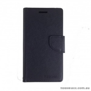Mooncase Stand Wallet Case For LG Stylus DAB Plus - Black
