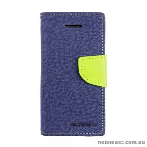 Mercury Goospery Fancy Diary Wallet Case for iPhone 5C - Navy Blue