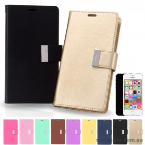 Mercury Goospery Rich Diary Wallet Case for iPhone 5/5S/SE