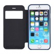 Korean WOW Window View Flip Cover for iPhone 5/5S/SE - Blue