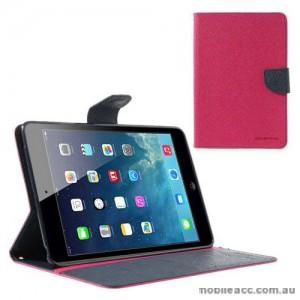 Mercury Goospery Fancy Diary Case for iPad Mini / iPad Mini 2 - Hot Pink