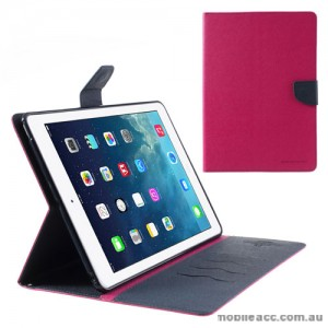 Mercury Goospery Fancy Diary Wallet Case for iPad Air - Hot Pink