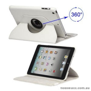 360 Degree Rotating Case for iPad mini / iPad mini 2 - White