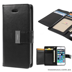 Korean Mercury Rich Diary Wallet Case for iPhone 6+/6S+ - Black