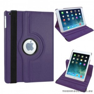 360 Degree Rotary Flip Case for iPad Air 2 - Purple