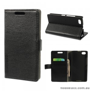Standard Lychee Skin Wallet Case for Blackberry Z30