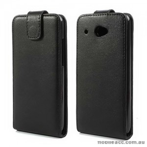 Synthetic Leather Flip Case Cover for HTC Desire 601 - Black