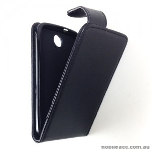Synthetic Leather Flip Case Cover for HTC Desire 300 - Black