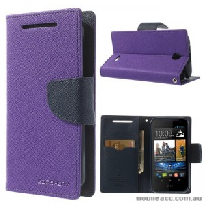 Korean Mercury Fancy Diary Wallet Case for HTC Desire 310 - Purple