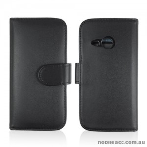 Synthetic Leather Wallet Case for HTC One Mini 2 (M8) - Black