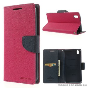 Korean Mercury Fancy Diary Wallet Case for HTC Desire 816 - Hot Pink