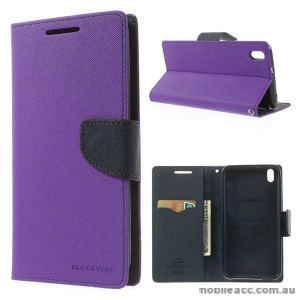 Korean Mercury Fancy Diary Wallet Case for HTC Desire 816 - Purple