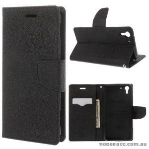 Korean Mercury Fancy Diary Wallet Case for HTC Desire Eye - Black