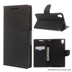 Korean Mercury Fancy Diary Wallet Case for HTC Desire 820 Black