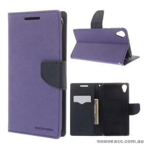 Korean Mercury Fancy Diary Wallet Case for HTC Desire 820 Purple