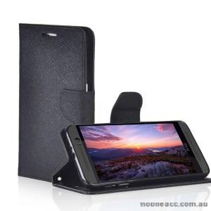 Moon Wallet Case for HTC Desire 320 - Black