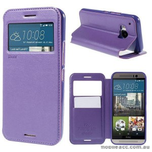 Korean Roar Wallet Case Cover for HTC One M9 - Purple