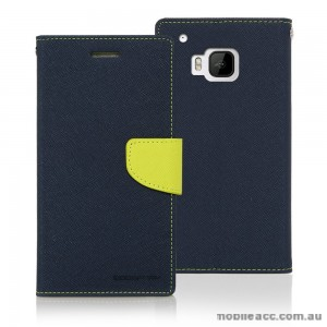 Korean Mercury Fancy Dairy Wallet Case for HTC E9 Plus Navy