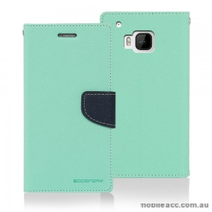 Korean Mercury Fancy Dairy Wallet Case for HTC E9 Plus Mint