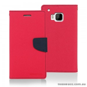 Korean Mercury Fancy Dairy Wallet Case for HTC E9 Plus Hot Pink