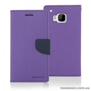 Korean Mercury Fancy Dairy Wallet Case for HTC E9 Plus Purple