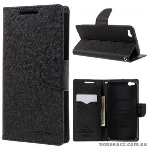 Mercury Fancy Diary Wallet Case for HTC One X9 Black