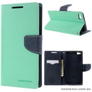 Mercury Fancy Diary Wallet Case for HTC One X9 Mint