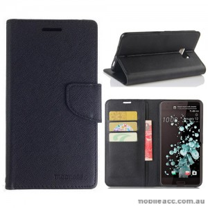 Mooncase Stand Wallet Case For HTC U Ultra Black