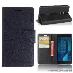 Mooncase Stand Wallet Case For HTC One X10 Black