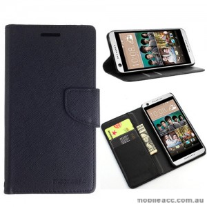 Mooncase Stand Wallet Case For HTC Desire 650 - Black