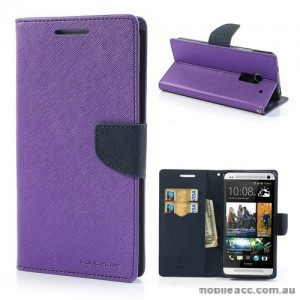 Korean Mercury Wallet Case for HTC One Max - Purple