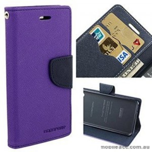 Korean Mercury Fancy Dairy Wallet Case For Oppo F1S - Purple