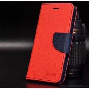 Korean Mercury Fancy Diary Wallet Case For Oppo R11 - Red