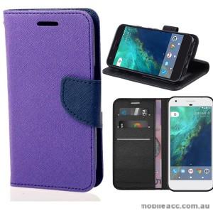Mooncase Stand Wallet Case For Telstra Google Pixel - Purple