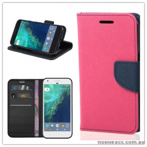 Mooncase Stand Wallet Case For Telstra Google Pixel - Hot Pink