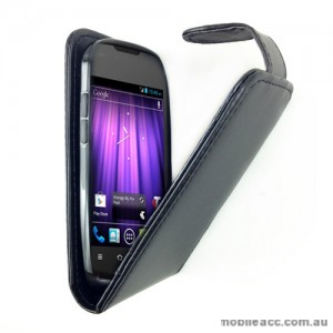 Synthetic Leather Flip Case for Telstra Pulse ZTE T790 - Black