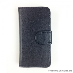 Synthetic PU Leather Wallet Case for Telstra Pulse ZTE T790 - Black