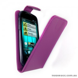 Synthetic Leather Flip Case for Telstra EasyTouch 4G ZTE T82 - Purple