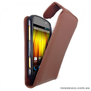 Synthetic Leather Flip Case for Telstra Dave 4G T83 × 2  - Brown