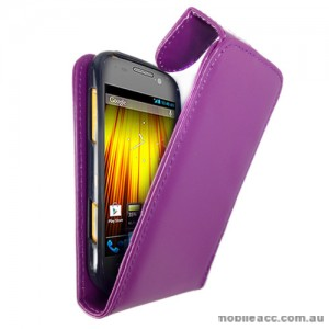 Synthetic Leather Flip Case for Telstra Dave 4G T83 × 2 - Purple