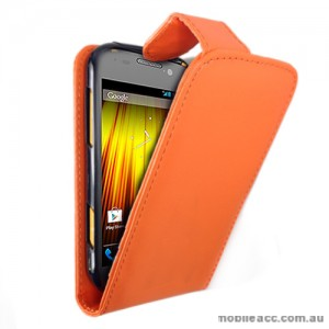 Synthetic Leather Flip Case for Telstra Dave 4G T83 × 2- Orange