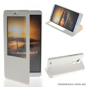 Huawei Ascend Mate 7 Window View Flip Cover - White