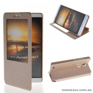 Huawei Ascend Mate 7 Window View Flip Cover - Gold