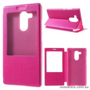 Flip Cover Case for Huawei Mate 8 Hot Pink