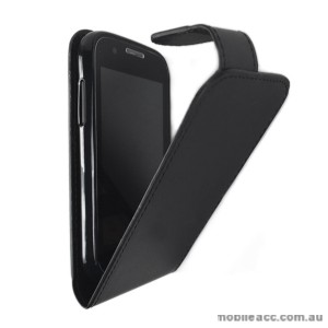 Telstra Evolution T80 Synthetic Leather Flip Case - Black