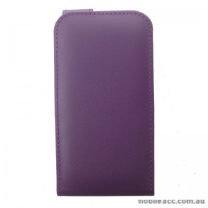 Synthetic Leather Flip Case for Telstra 4GX Buzz Purple